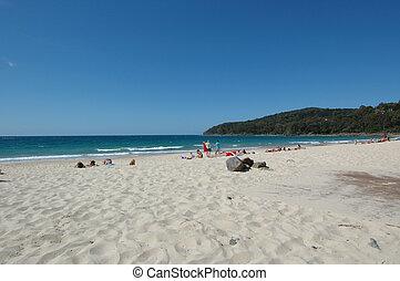 fronte, spiaggia
