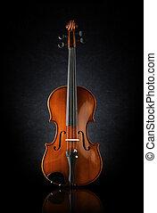 fronte, violino, colpo, vista