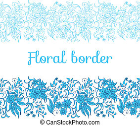 fronteira floral, seamless