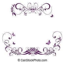 fronteira floral, violeta