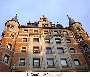frontenac, ケベック, canada., 城