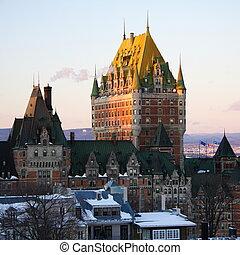 frontenac, 别墅, 里程碑, 魁北克城市