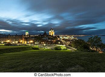 frontenac, 城堡, 在中, 老, 魁北克城市