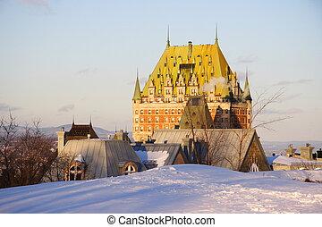 frontenac, 城, ランドマーク, ケベック 都市