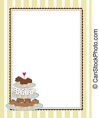 frontera, amarillo, cupcake