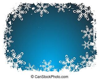 frontera, copo de nieve