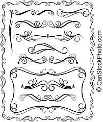 fronteras decorativas, conjunto, 3