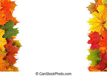 frontière, automne
