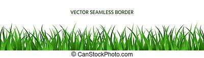 frontière, bannière, été, toile de fond, seamless, herbe verte