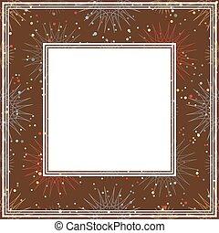 frontière brune, étoiles