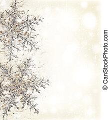 frontière décorative, flocon de neige, beige