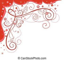 frontière décorative, rouges