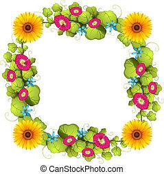 frontière florale, conception