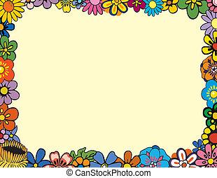 frontière florale