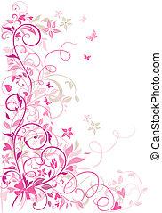 frontière florale, valentin