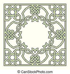 frontière géométrique, arabesque, cadre