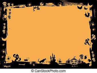 frontière, halloween, noir