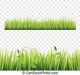 frontière, herbe, tileable, transparent