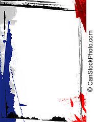 frontière, peinture, page