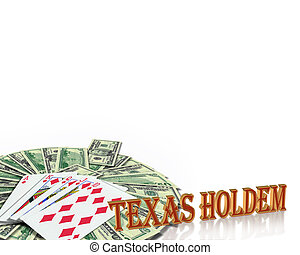 frontière, poker, holdem, cartes, texas