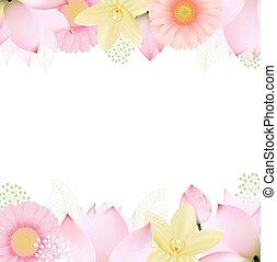 frontières, fleurs