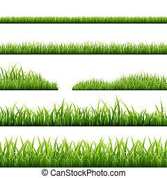 frontières, herbe