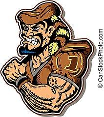 frontiersman football player - muscular frontiersman...