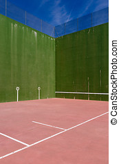 Fronton court detail - Detail of a fronton court. Pelota...