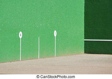 Fronton court. Jai alai - Fronton court. Spanish popular...