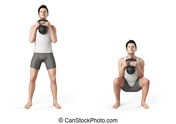 frontsquat - kettlebell exercise - frontsquat
