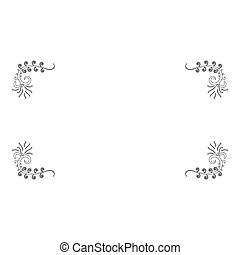 Froral board Art frame icon outline black color vector illustration flat style image