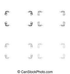 Froral board Art frame icon outline set black grey color vector illustration flat style image