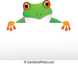 frosch, mit, unbelegtes zeichen