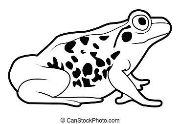 frosch, zeichen