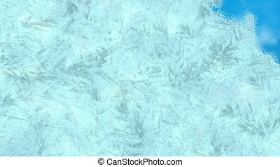 Frost and ice transition - Animation of frost setting on ...