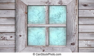 Frost and ice transition on house window - Animation of ...