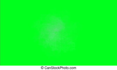 Frost background on green screen