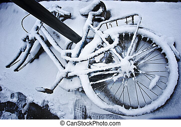 Frost Covered Bicycle