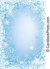 Frost frame - Light blue frosted window. Eps8. CMYK. Global ...