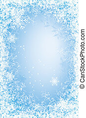 Frost frame - Light blue frosted window. Eps8. CMYK. Global...