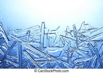 frost, på, glas