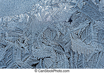 Frost pattern - Backgrounds and textures: frost pattern on a...