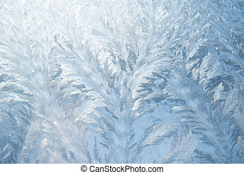 frost pattern on glass