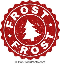 FROST Scratched Stamp Seal with Fir-Tree
