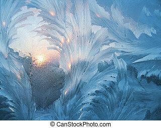 frost, sonne