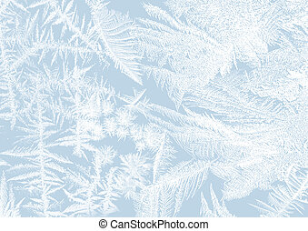 Frost stars - Iceflower frosting on a window in soft pastels