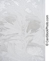 frost, vinter, fönster