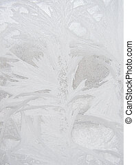 Frost winter window - Winter frost window with the ornate...