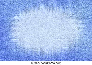 Frosted blue felt background