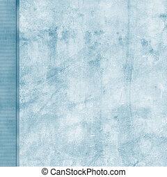Frosted blue grunge background with left side border